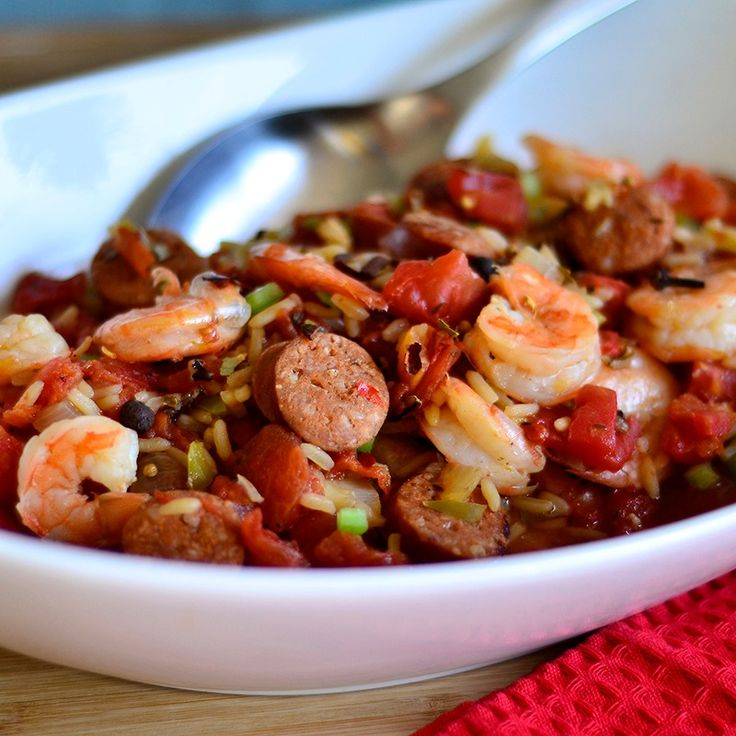 hearty flavorful one-dish meal starts by sautéing smoked or andouille ...