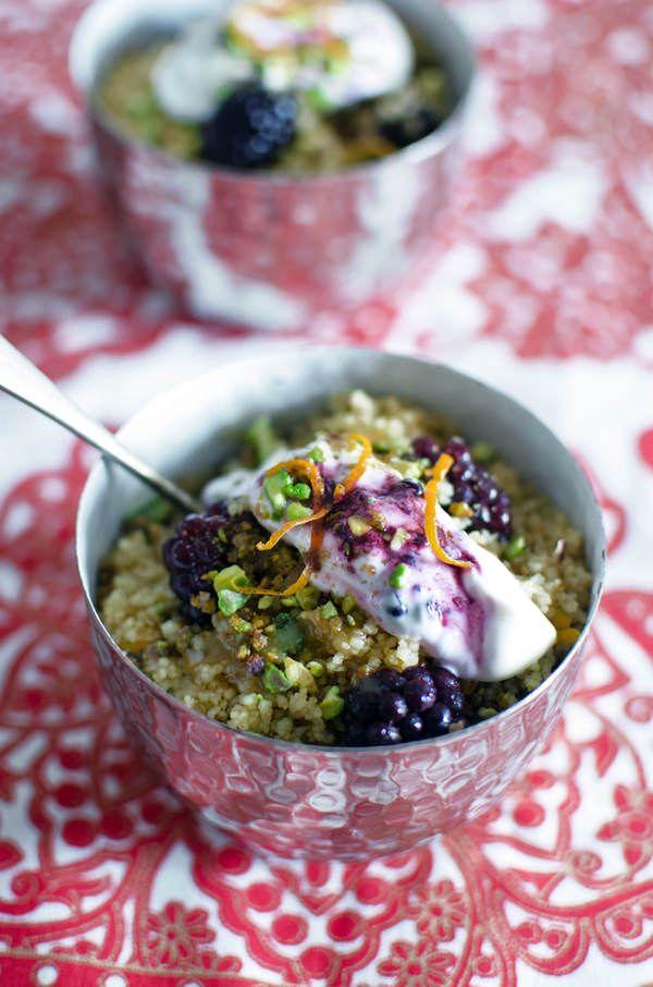 sweet couscous with blackberries | Blackberries | Pinterest