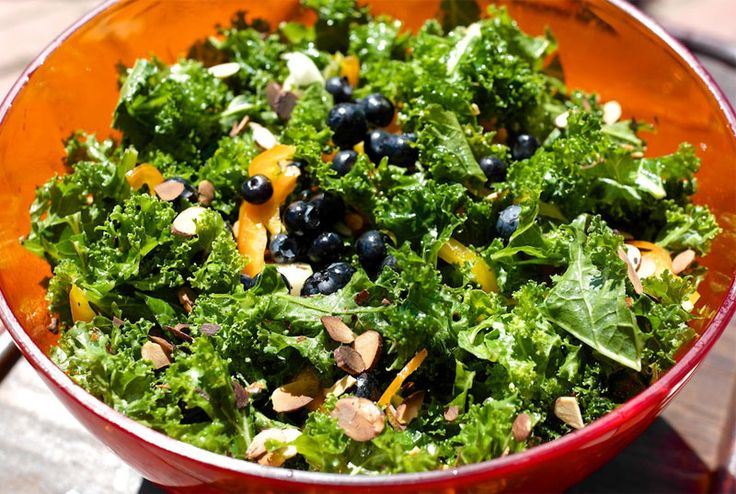 Blueberry-Kale-salad | Sensational Salads | Pinterest
