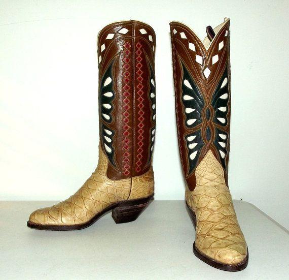 blucher cowboy boots anteater leather handmade
