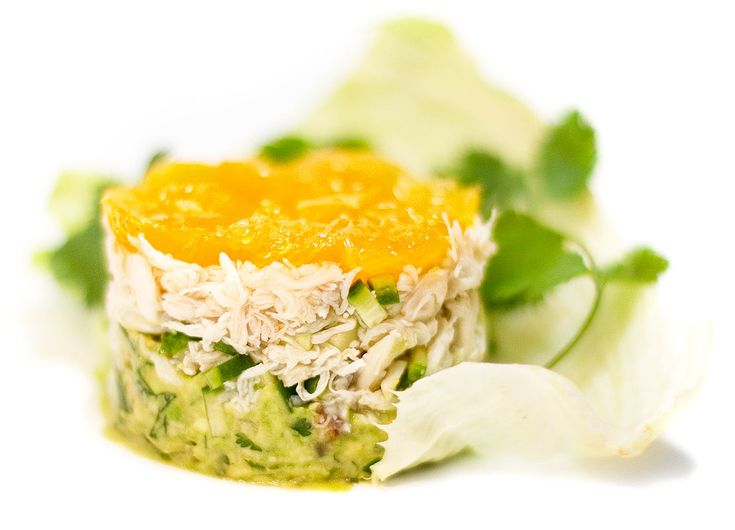 Crab Salad with Avocado and Tangerines / @DJ Foodie / DJFoodie.com