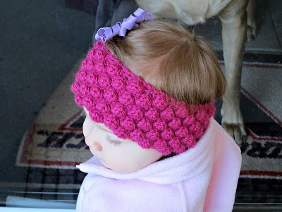 Baby Girl Espadrilles Crochet Pattern : Bobble Baby Ear Warmer-free pattern Crochet Pinterest