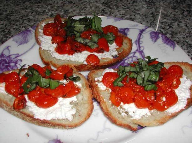 Roasted Tomato Bruschetta   Recipe