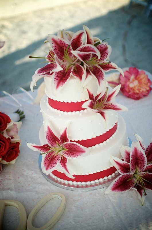 Lily Rose Cake Design : Tiger lily wedding cake Friends  weddings Pinterest