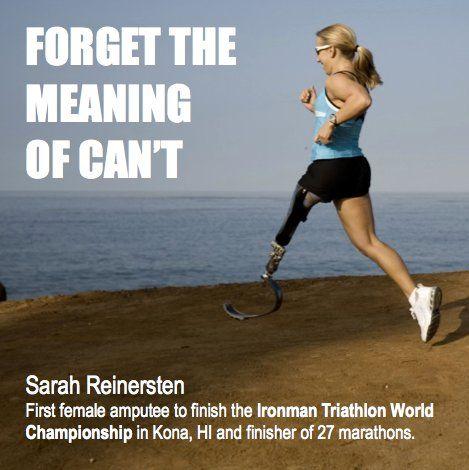 1st female amputee to finish Ironman Championship