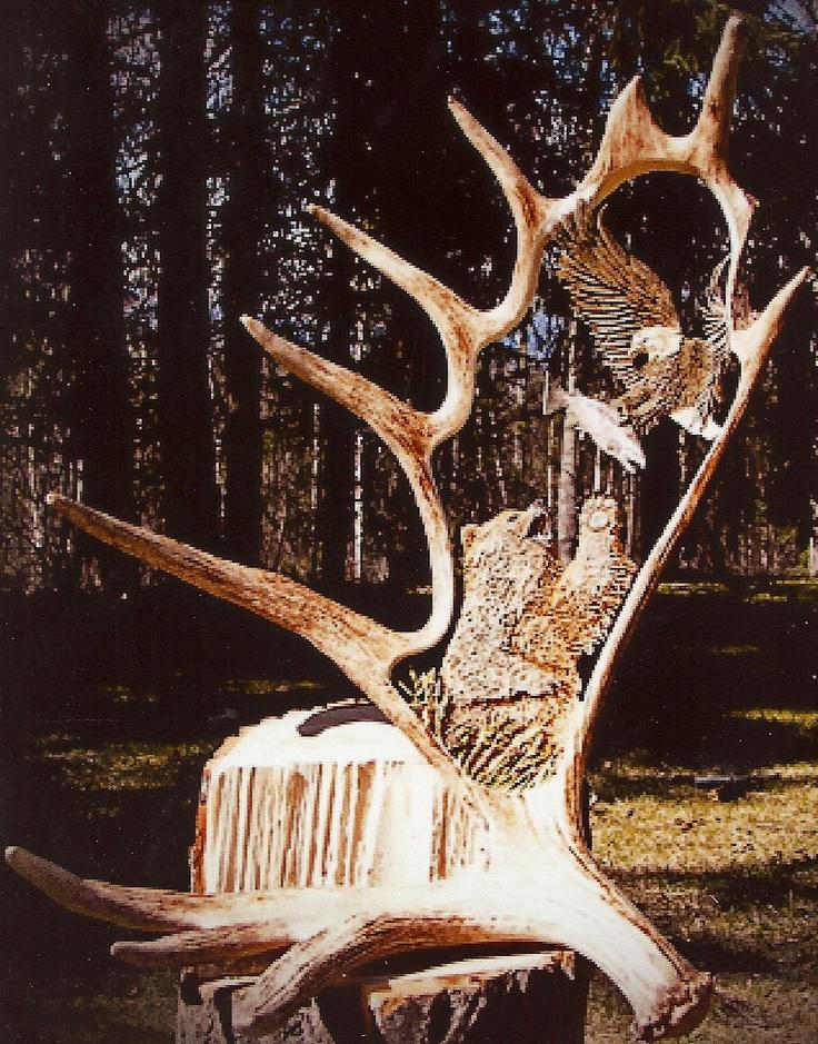 Antler carving carved art pinterest