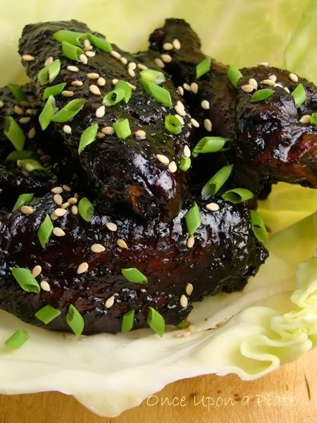 Deep Dark Mahogany Glazed Wings | Yummmm...Savoury Meals | Pinterest
