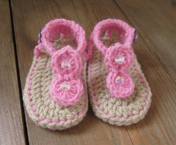 Crochet baby gladiator sandals Knit, Crochet, Sew or no ...