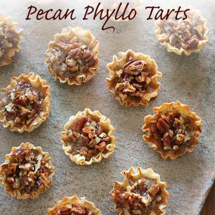 Mini Pecan Phyllo Tarts | Food | Pinterest