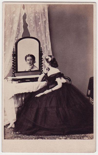 Miss Mia Bradshaw of Leamington, 1860s.