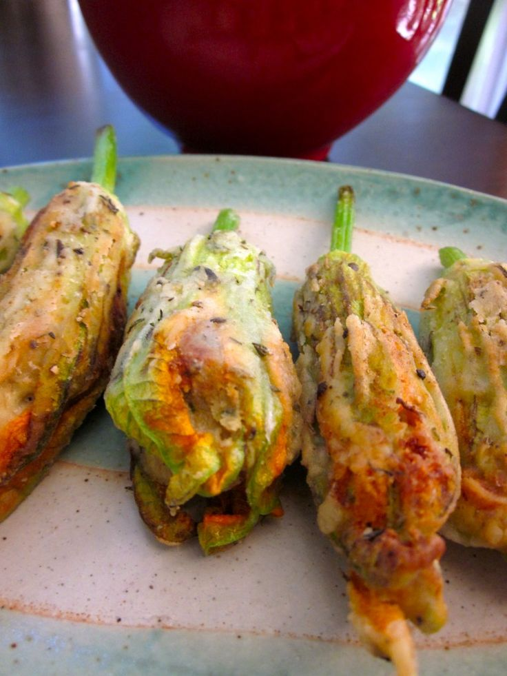 fried cashew cheese stuffed squash blossoms vegan easily adapted to gf