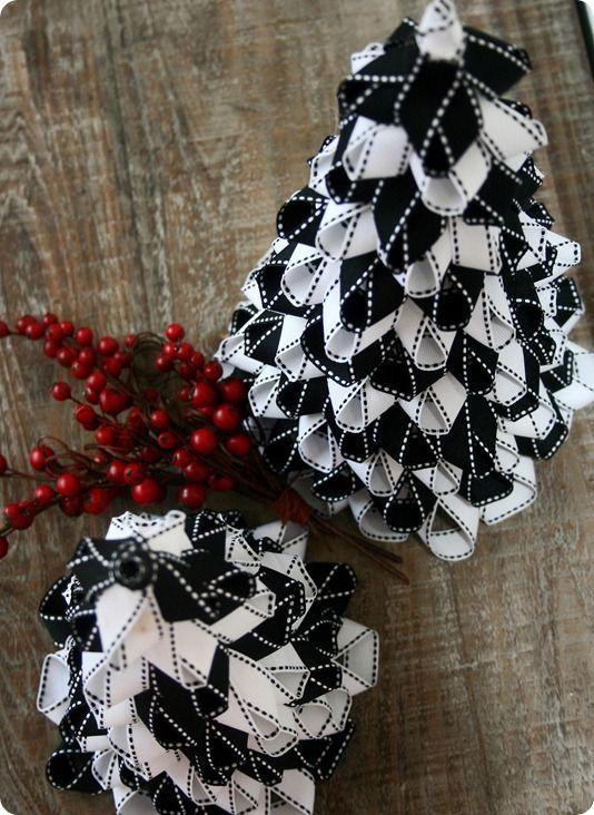 Elegant diy ribbon christmas trees holidays pinterest