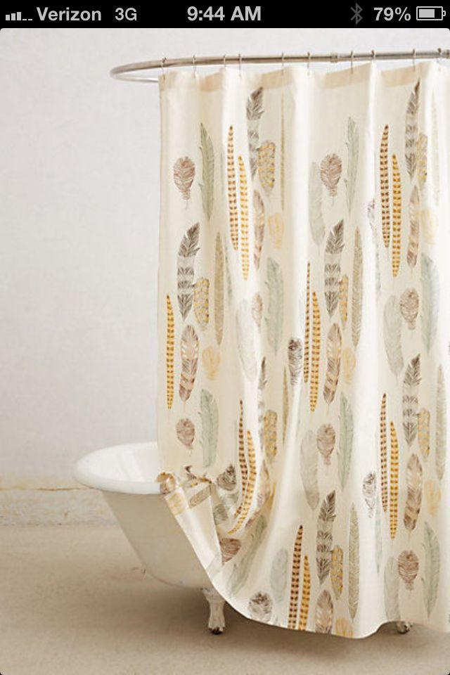 Quills -shower curtain 4 trailer | Camping trailer | Pinterest
