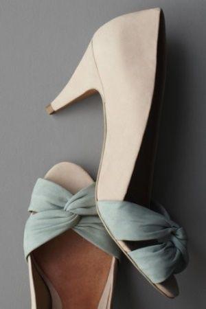 Jade Shoes - Love these - http://vintagetearoses.com/greyed-jade-wedding-inspiration/
