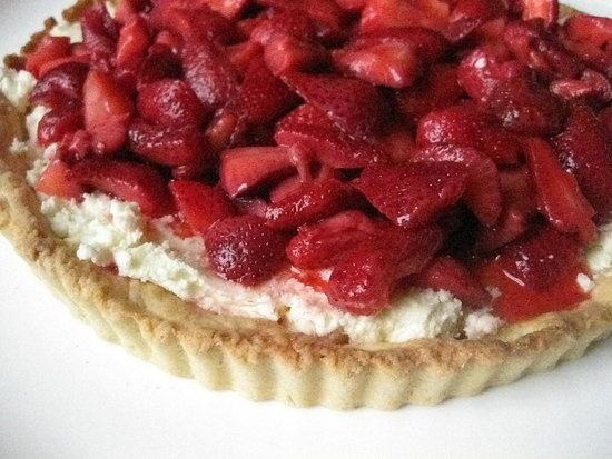 Strawberry Mascarpone Tart With Port Glaze | Recipe