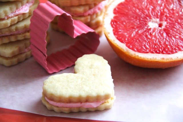 Ruby Red Grapefruit Sandwich Cookies from Alaska from Scratch