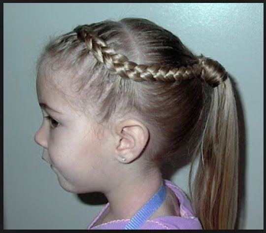 kids short hairstyles : Childrens hairstyle braid and ponytail Kids: Hairstyles ...