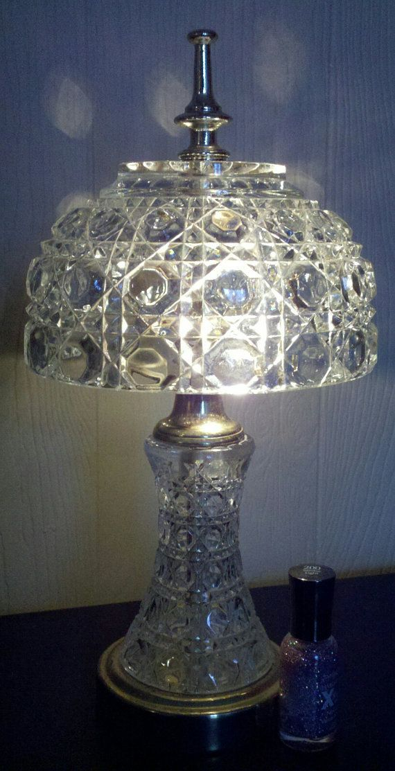 13 Tall Cut Glass Lamp