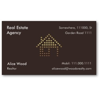 Real Estate Agency Business Card Gift Ideas From Zazzle