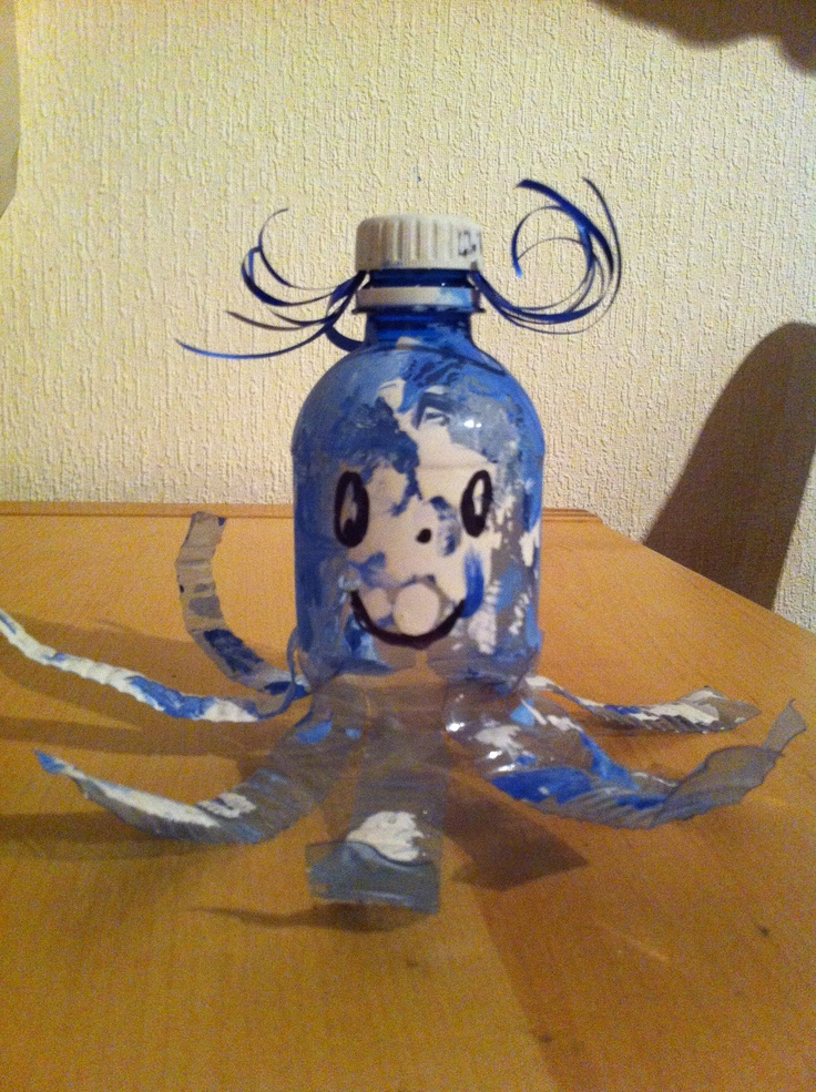 Pieuvre en bouteille pet bark csol s gyerekekkel llatok - Bricolage avec bouteille plastique ...