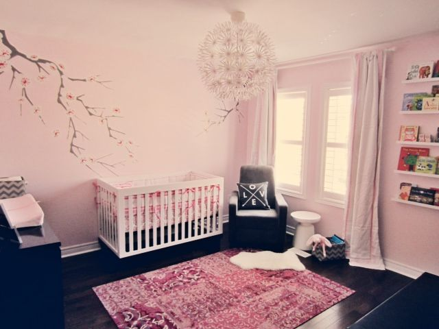 The focal point of this nursery is the beautiful, yet functional rug from @Florencia Carballo! #nursery #pink