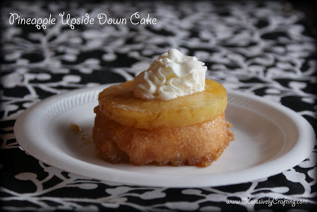 Pineapple Upside Down cake.. Super Easy = Just a donuts, pineapples ...