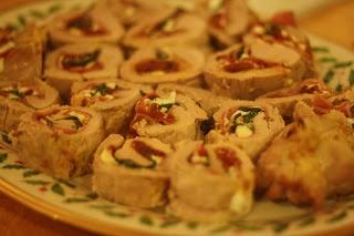 ... to Ruth: Spinach Prosciutto and Mozzarella Stuffed Pork Tenderloin