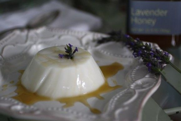 lavender greek yogurt panna cotta | sweets | Pinterest