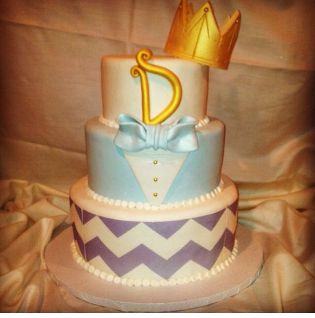 prince baby shower cake cakes pinterest