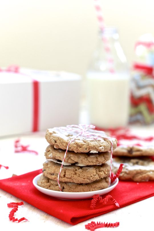 Chewy Chocolate Chip Gingersnap Cookies with Rum Glaze | Recipe