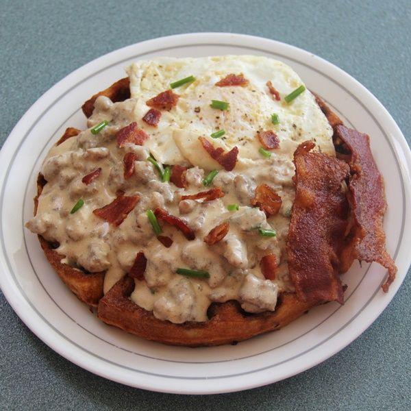 Waffles, Eggs and Gravy | Recipe