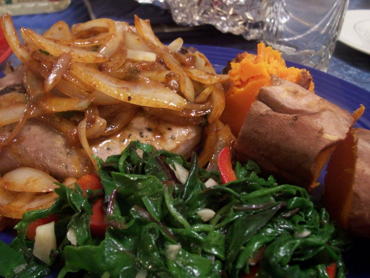 Cooking Chat: Cumin & Sage Rubbed Pork Chops with Onion Sauce