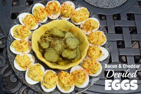 Bacon & Cheddar Deviled Eggs | Recipe