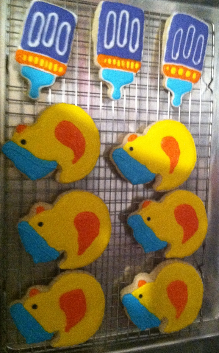 Ducky, and baby bottle baby shower cookies! These sugar cookies are ...