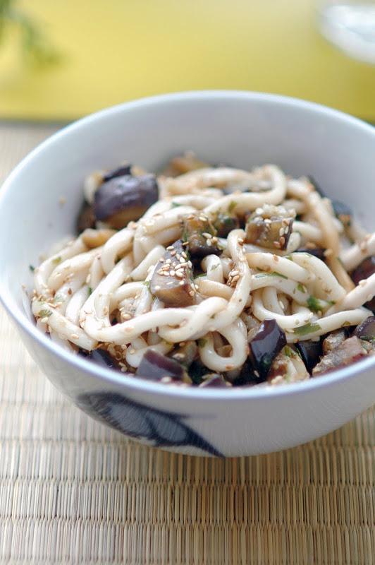 Eggplant and Sesame Udon Noodles | Noodles | Pinterest