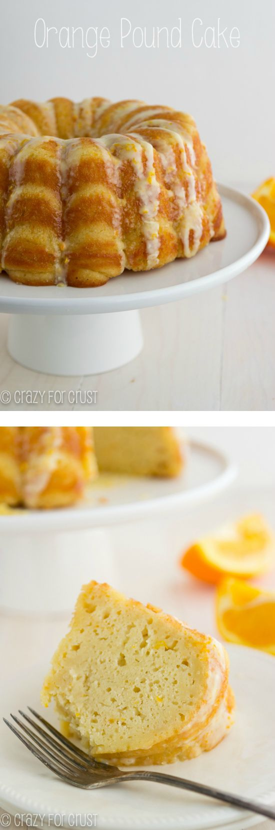 Orange Pound Cake | crazyforcrust.com | A pound cake made with greek ...