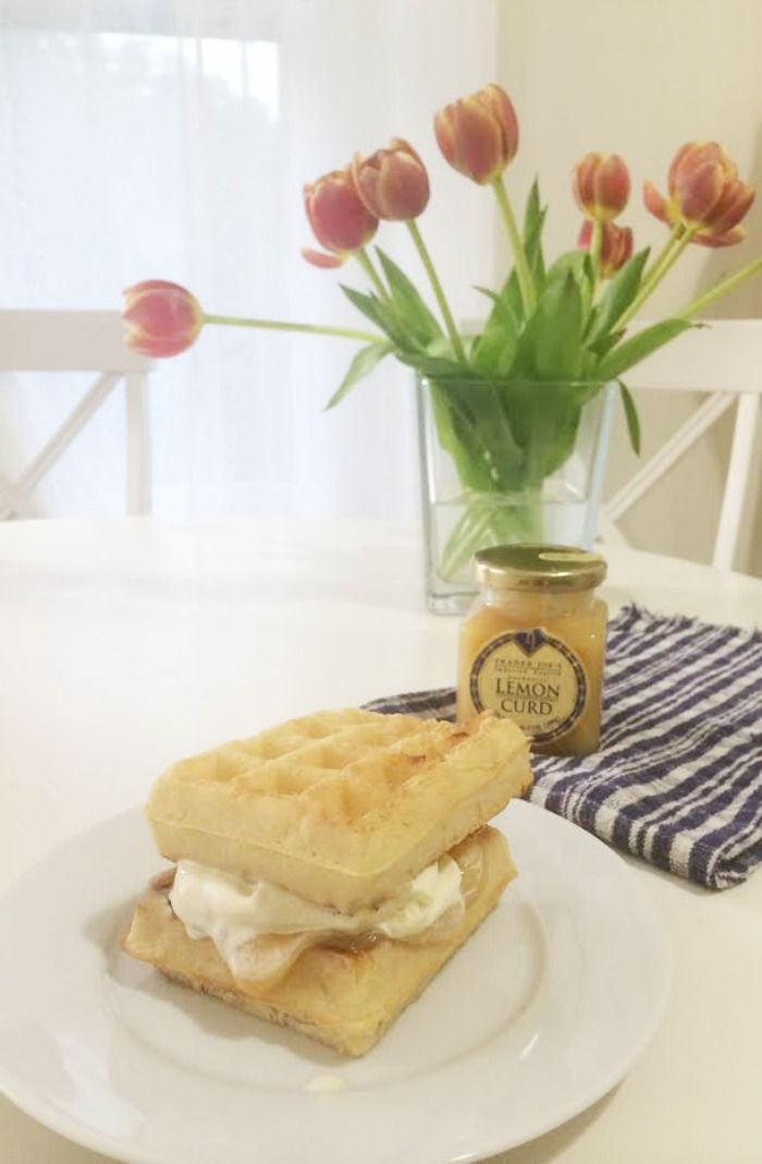 DC Girl in Pearls - Lemon Curd Belgian Waffle Ice Cream Sandwich