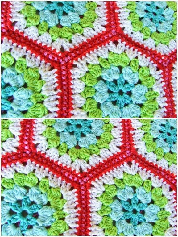Crocheting Hexagons : crochet hexagons Crochet Afghans and Throws Pinterest