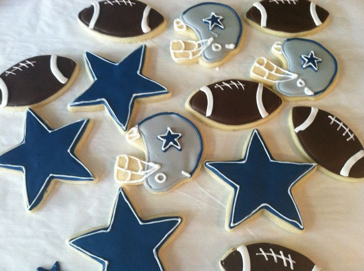 dallas cowboy cookies baby shower ideas pinterest