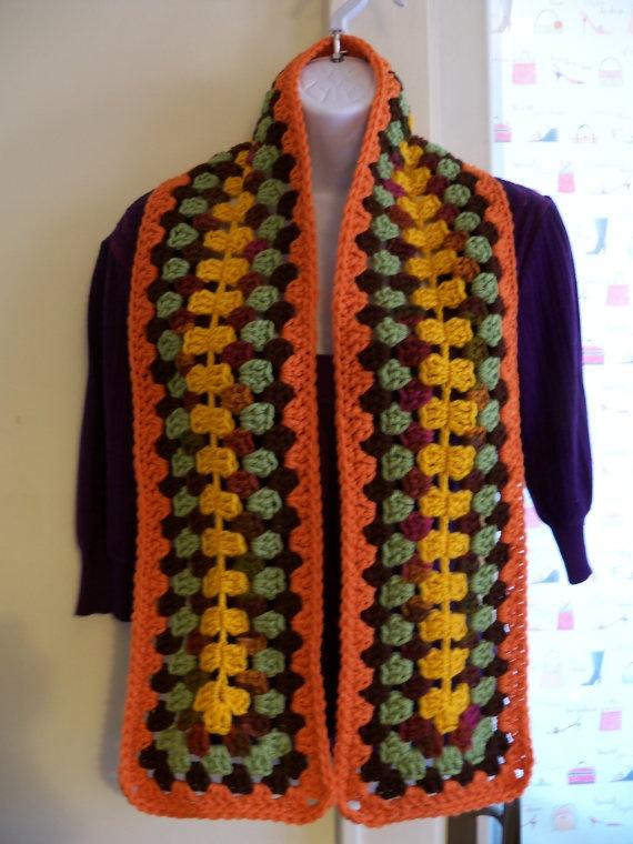Crocheted Scarf by Cripiana on Etsy
