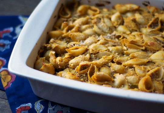 Pumpkin & Ricotta Pasta Casserole. The picture does not look ...