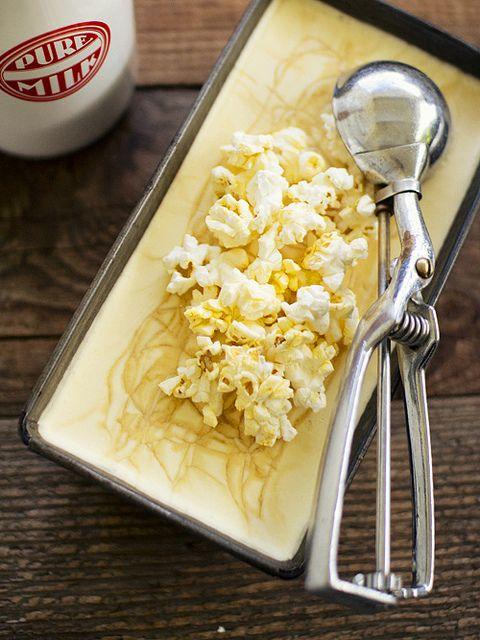 Popcorn salted caramel ice cream