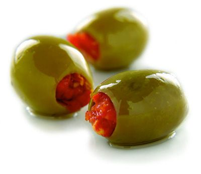 Sundried tomato stuffed olives.
