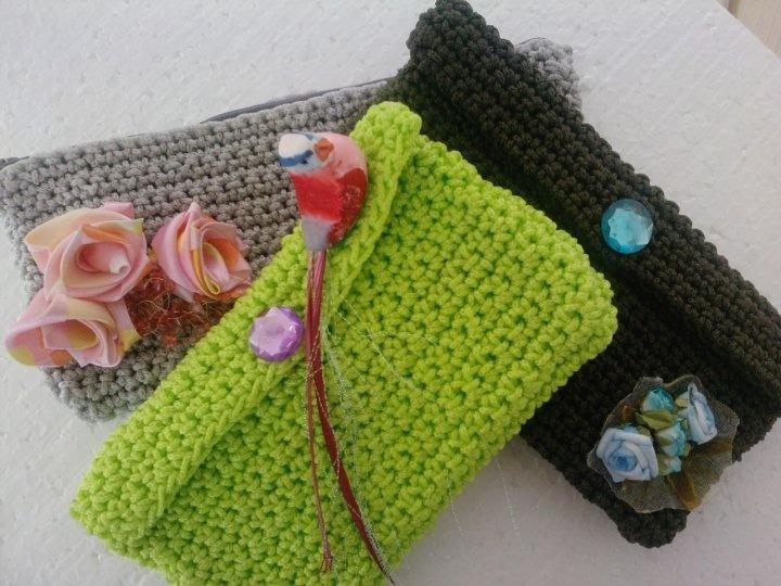Clutch Bag Crochet : crochet clutch bag Crochet and knitting Pinterest