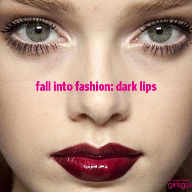 Oxblood lipstick obsession! Love fall dark colors.