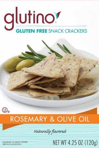 Glutino Gluten Free Wholesome Crackers, Rosemary and Olive Oil, 4.25 ...