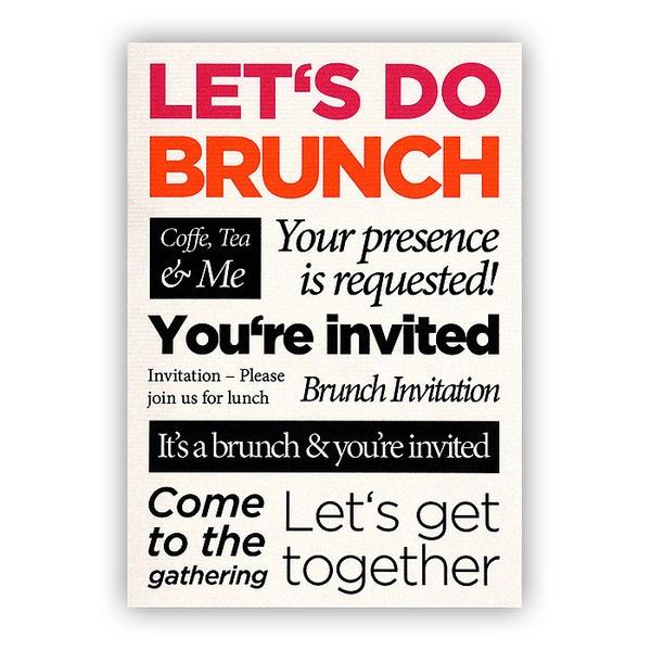"""Einladung im Postkartenformat """"Let's do brunch"""" von etmamu/ Invitation ..."""