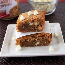 White Chocolate Biscoff Blondies | dessert | Pinterest