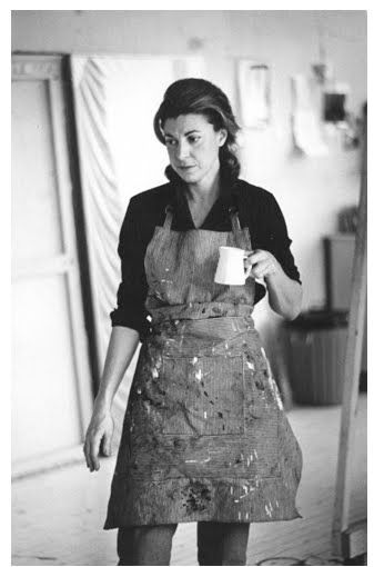 "At Work: ""There are no rules. That is how art is born, how breakthroughs happen. Go against the rules or ignore the rules. That is what invention is about."" - Helen Frankenthaler (American abstract expressionist painter) pictured in her studio, 1960s (http://www.theartstory.org/artist-frankenthaler-helen.htm)"
