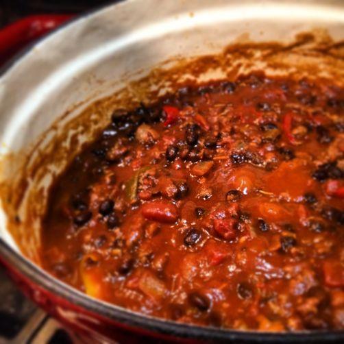 Chili With Chocolate Recipe — Dishmaps